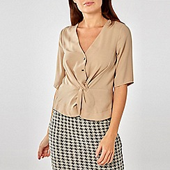 Dorothy Perkins - Stone twist front top