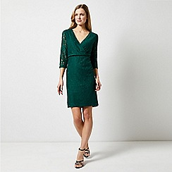 Dorothy Perkins - Green Wrap Lace Bodycon Dress