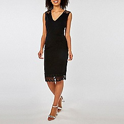 Dorothy Perkins - Black Lace Shoulder Pencil Dress