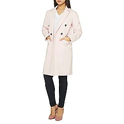 Dorothy Perkins - Blush double-breasted coat