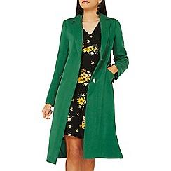 Dorothy Perkins - Green colour pop coat