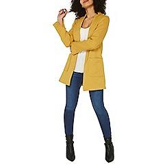 Dorothy Perkins - Ochre twill patch pocket coat