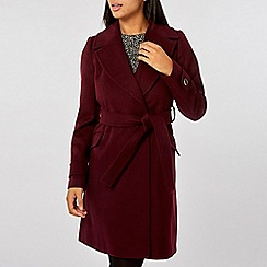 Dorothy Perkins - Berry belted wrap coat