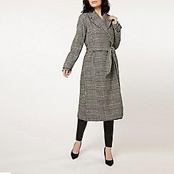Dorothy Perkins - Monochrome check wrap coat