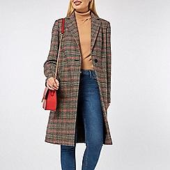 Dorothy Perkins - Multi colour checked coat
