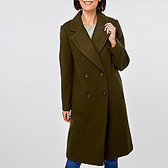 Dorothy Perkins - Khaki double breasted coat
