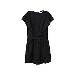Mango - Black cotton blend 'Camelo' mini dress