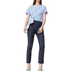 Mango - Navy 'Avantibi' slim fit cropped trousers