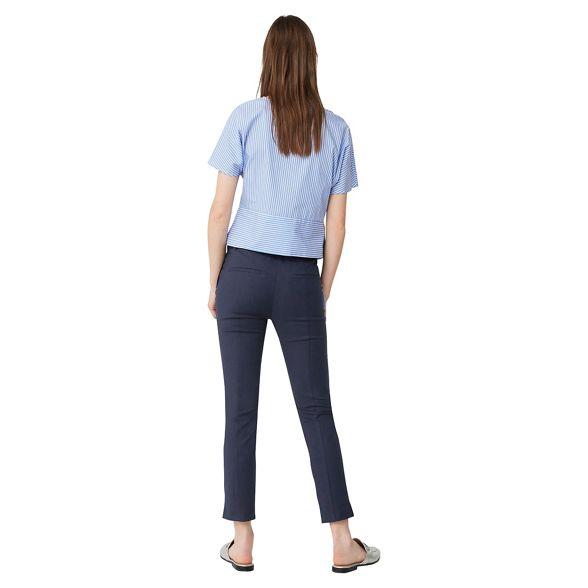 fit trousers Mango slim 'Avantibi' Navy cropped 1nYqH1gBw