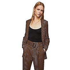 Mango - Brown printed 'Manupri' trousers