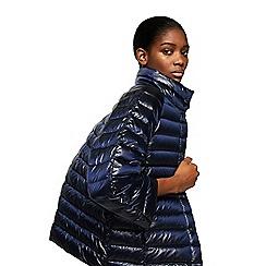 Mango - Blue 'Blandico' 3/4 sleeve quilted jacket