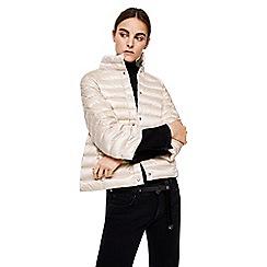 Mango - Grey 'Blandico' 3/4 sleeve quilted jacket
