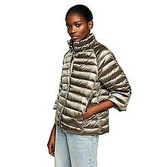 Mango - Brown 'Blandico' 3/4 sleeve quilted jacket