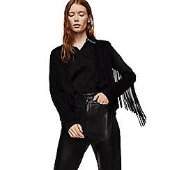 Mango - Black fringed 'Gipsy' jacket