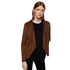 Mango - Brown fringed 'Gipsy' jacket