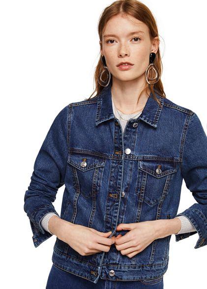 'Vicky' Dark blue jacket Mango denim waEqEd4