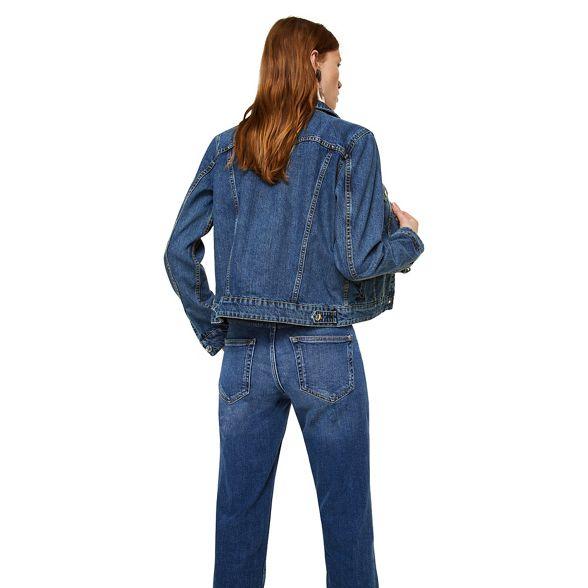 Dark denim 'Vicky' jacket blue Mango pdqw7p