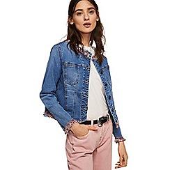 Mango - Blue 'Chain' denim jacket