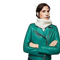 Mango - Green 'Liz' biker jacket