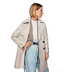 Mango - Grey 'Sherlock' double breasted trench coat
