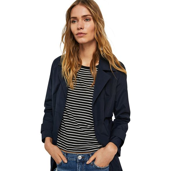 Mango trench blue coat 'Lola' Navy 6qZr6T