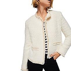 Mango - Natural tweed 'Balboa' jacket