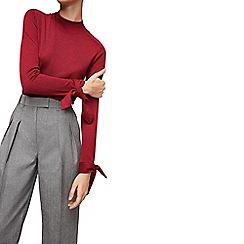 Mango - Medium red 'Calita' knotted long sleeve sweater