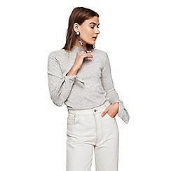 Mango - Medium grey 'Calita' knotted long sleeve sweater