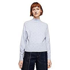 Mango - Blue embroidered 'Pelota' sweater