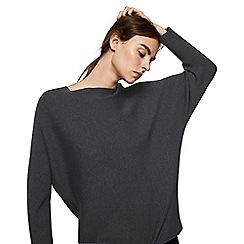Mango - Grey fine-knitted 'Vanesa' oversize sweater