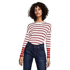 Mango - Red striped 'Laurel' sweater