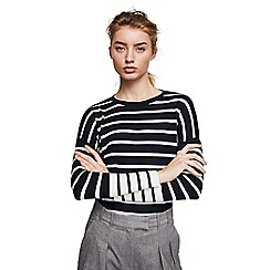 Mango - Navy blue striped 'Laurel' sweater