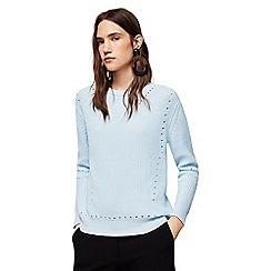 Mango - Blue openwork detail 'Genzo' knitted sweater
