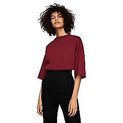 Mango - Red 'Costa' high neck batwing sleeve t-shirt