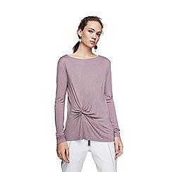 Mango - Purple 'Anudado' long sleeve t-shirt