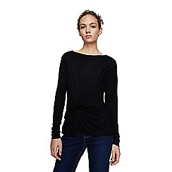 Mango - Black 'Anudado' long sleeve t-shirt