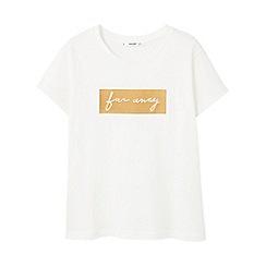 Mango - White 'Far Away' t-shirt