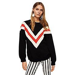 Mango - Black striped 'Robbi' oversized sweatshirt