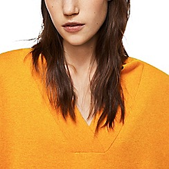 Mango - Yellow 'Chip' v-neck ribbed sweater