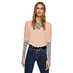 Mango - Pink 'Ines' v-neck oversized sweater