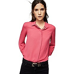 Mango - Pink 'Basic' long sleeve shirt