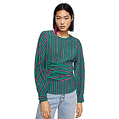 Mango - Green striped 'Mia' long sleeve top