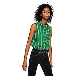 Mango - Green stripe print 'Tuti' top