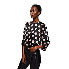 Mango - Black polka dot print 'Topo' top