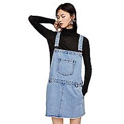 Mango - Blue denim 'Classic' mini dungaree dress