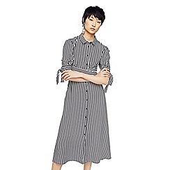 Mango - Monochrome striped 'Cami' midi shirt dress