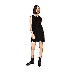 Mango - Black eyelet 'Corsa' mini dress