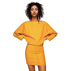 Mango - Yellow pure linen 'Alnus' mini dress