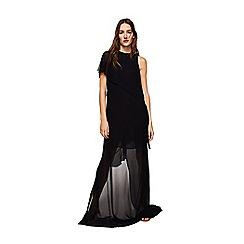 Mango - Black asymmetrical ruffled 'Iriss' dress