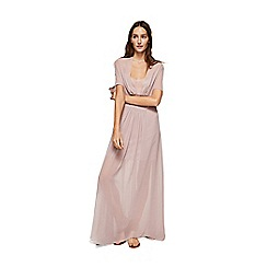 Mango - Pink honeycomb patterned 'Adriana' maxi dress